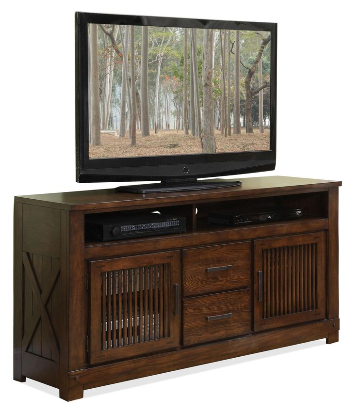 windridge 2 door tv console with 2 center drawers by riverside furniture ahfa tv