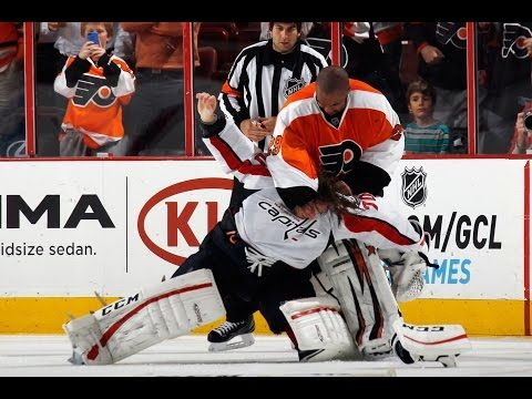 NHL GOALIE FIGHTS /ALTERCATIONS 2014 - YouTube