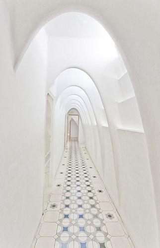 white corridor - Gaudi's Casa Batllo
