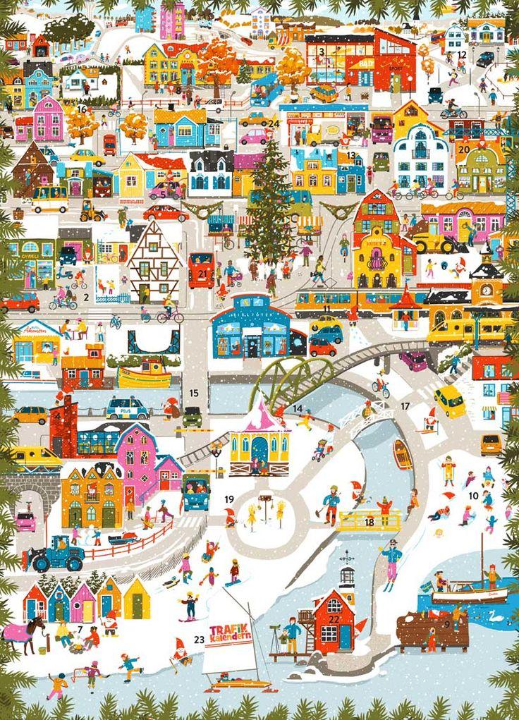 Julkalender - Trafikkalendern