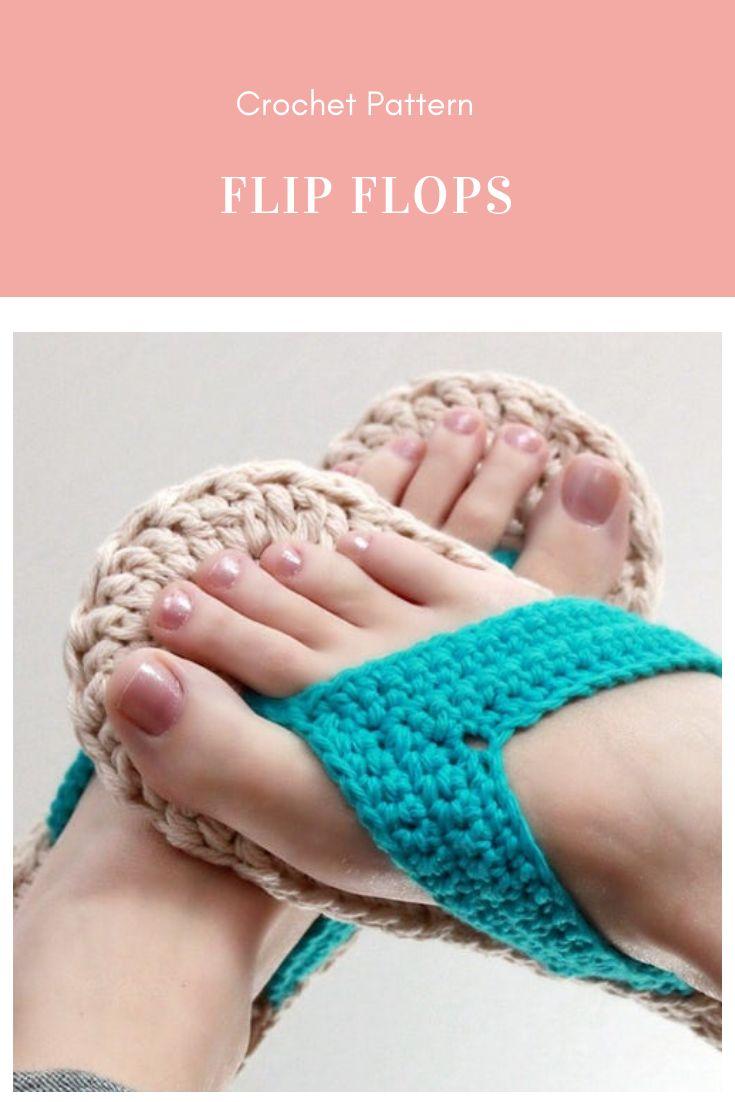 Crochet Pattern – Flip Flops (Child to Adult sizes 3-10)