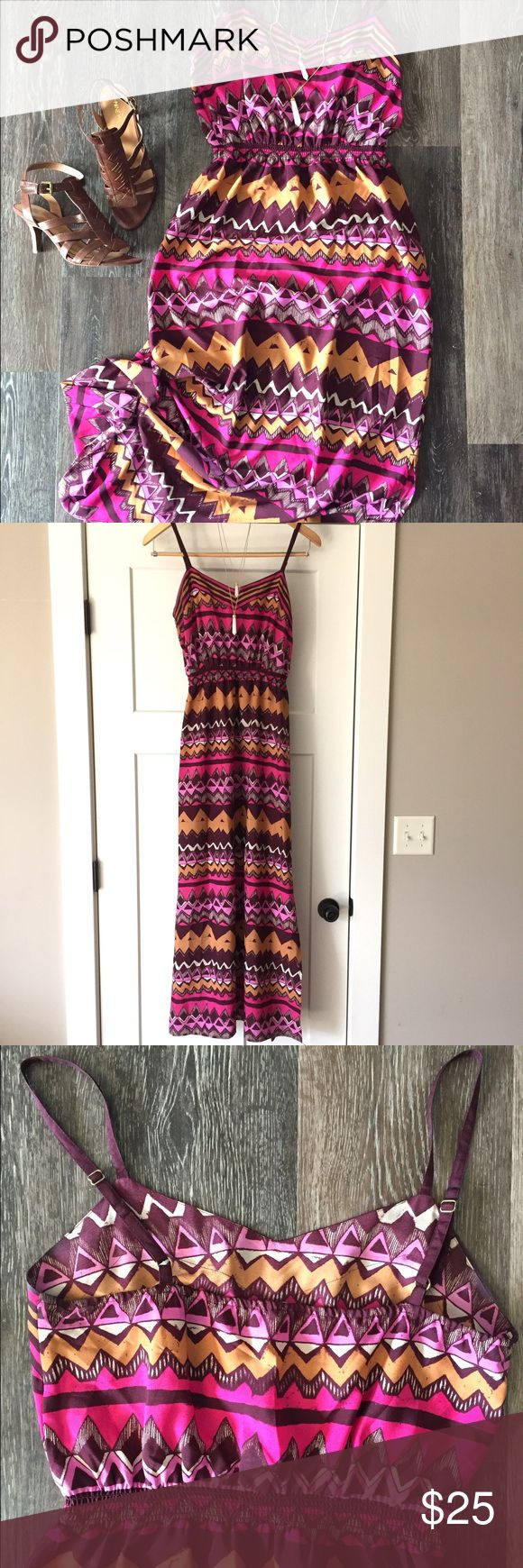 Tribal maxi dress Tribal maxi dress by LOFT. Perfect for the spring/summer! Worn once, in perfect condition! LOFT Dresses Maxi