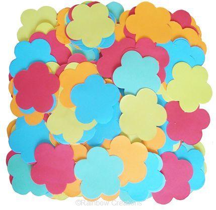 Rainbow Creations Pre Cut Paper Flower Shapes
