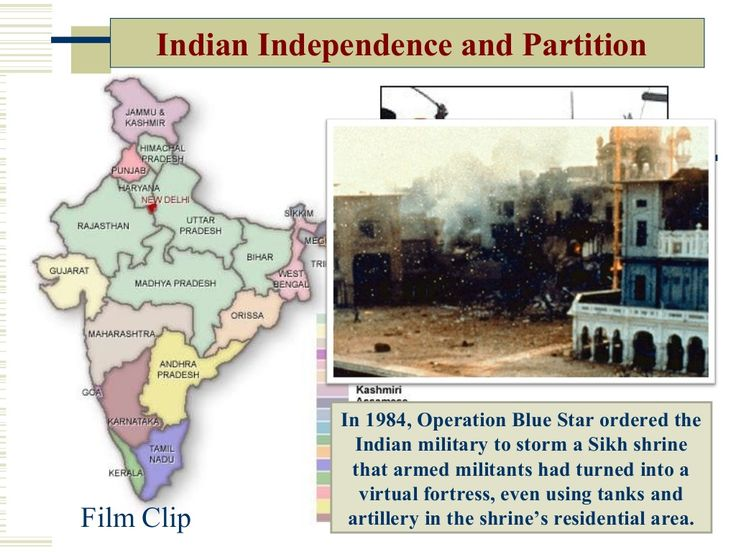 Indian Independence and Partition Film Clip In 1984, Operation Blue Star ordered the Indian military to storm a Sikh shrin...