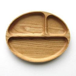 【旭川家具 ササキ工芸】 木のランチプレート(ナラ/カバ) [北海道旭川産クラフト] プレゼントにも最適な天然木の上質なプロダクト- 暮らしに木のぬくもりをプラスする木製食器