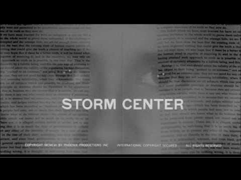 Saul Bass title sequence for Storm Center (1956)