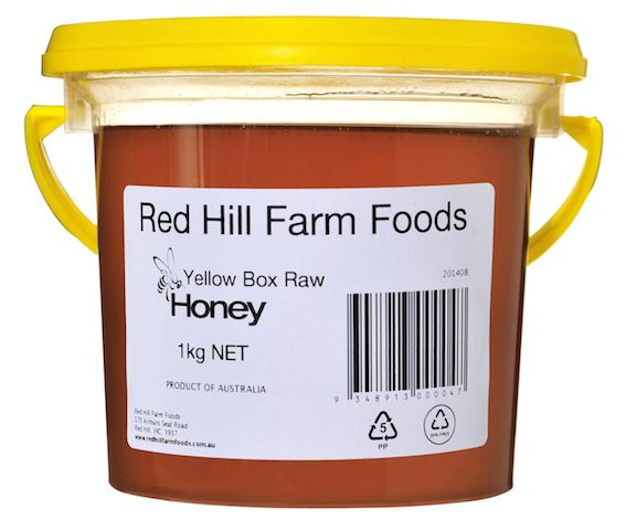 Red Hill Farm Foods - Yellow Box Raw Honey 1kg Bucket, $15.00 (http://www.redhillfarmfoods.com.au/yellow-box-raw-honey-1kg-bucket/)