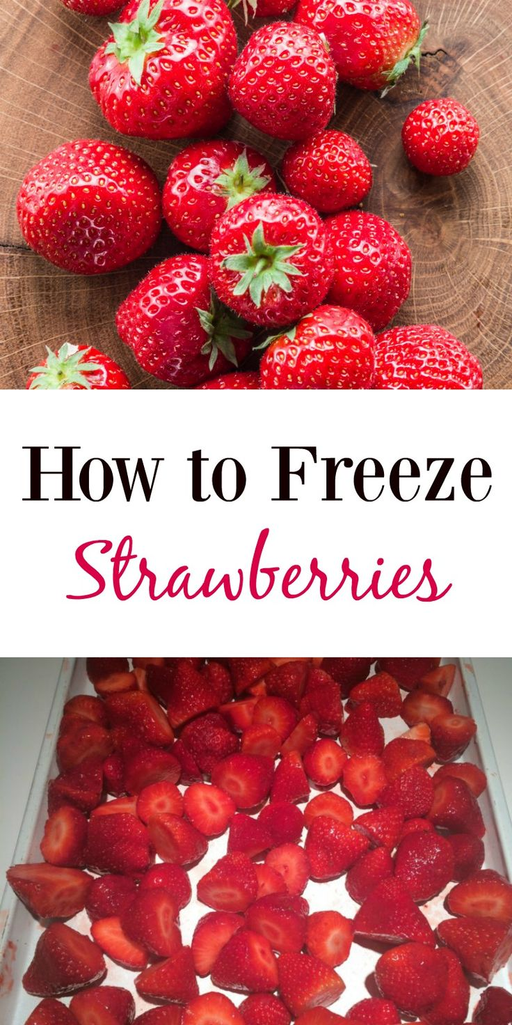 How to Freeze Strawberries--this frugal trick will save you money all year long!  Have farm fresh berries all year, perfect for baking, smoothies and more!