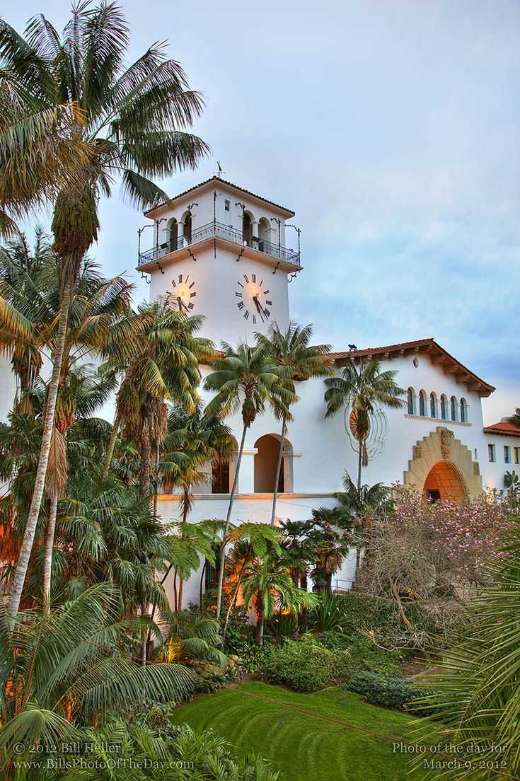 Courthouse Clocktower from the Garden Balcony, Santa Barbara, California  http://www.pinterest.com/pin/250864641715997117/