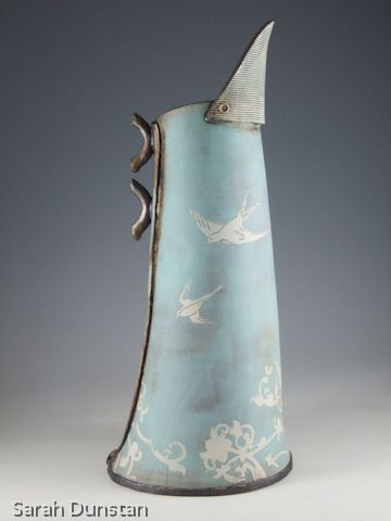 jug blue birds by sarah dunstan