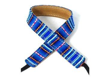 Peruvian fabric with soft suede leather inside layer Pete Schmidt camera straps