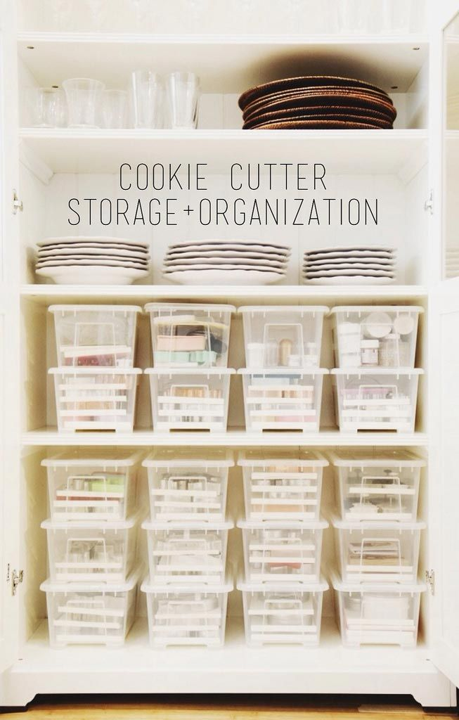 how to organize cookie cutters
