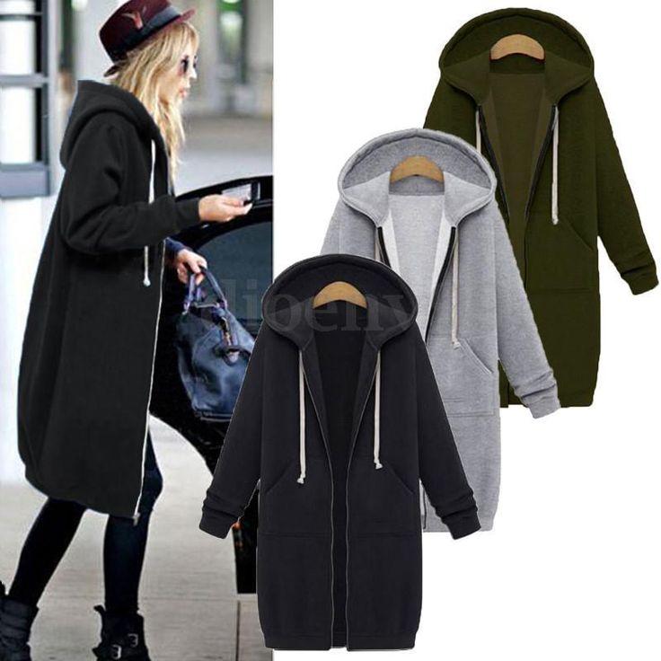 US S-5XL Zanzea Women's Long Sleeve Warm Winter Hoodies Cardigan Jacket Outwear | Clothing, Shoes & Accessories, Women's Clothing, Coats & Jackets | eBay!