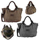 OBC Moderne Damen Tasche Canvas XXL Shopper Stofftasche Schultertasche Umhängetasche Baumwolle Beuteltasche Strandtasche Bag Street:…