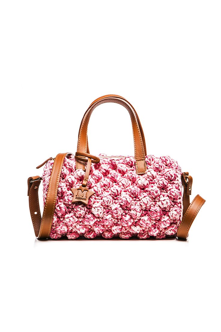 M-Missoni - PINK RAFFIA TRUNK BAG