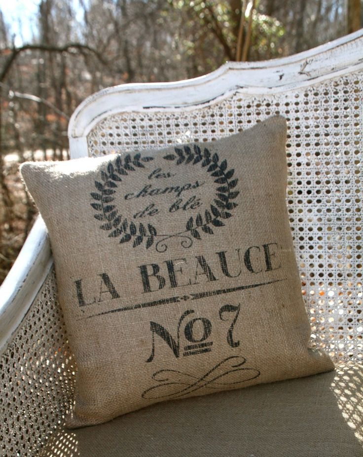 Burlap Coffee Bag Pillow