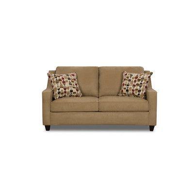 Simmons Upholstery Twillo Full Sleeper Sofa Upholstery: Bronze