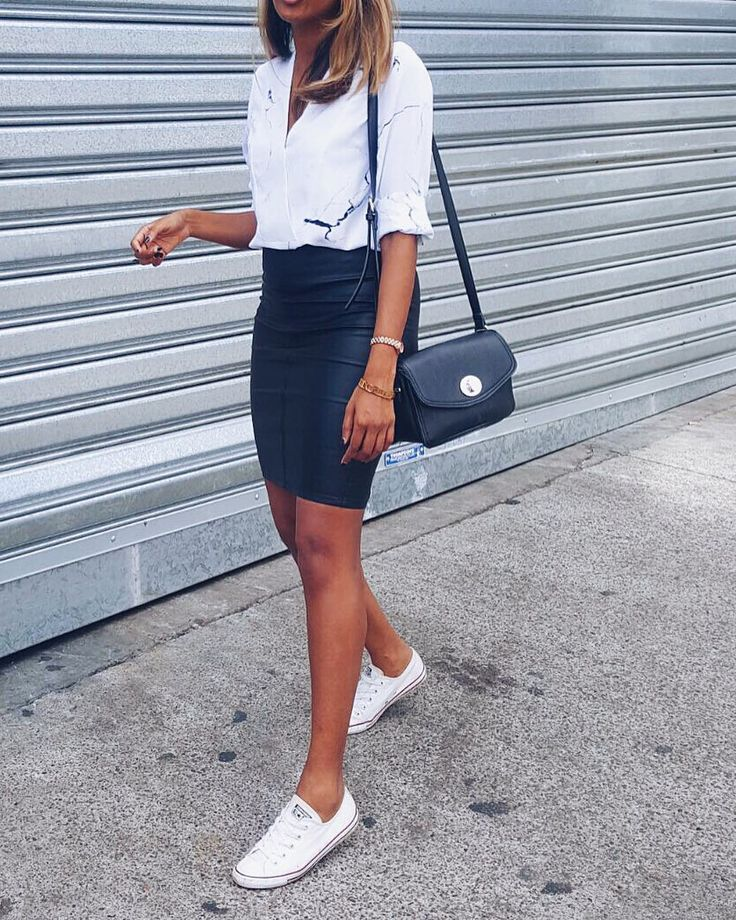 """668 Likes, 49 Comments - T I N A  A B E Y S E K A R A (@trashtotreasured) on Instagram: """"#OOTD $39 @targetaus marble print teamed with $40 @supre_instagram leather look skirt- can see this…"""""""