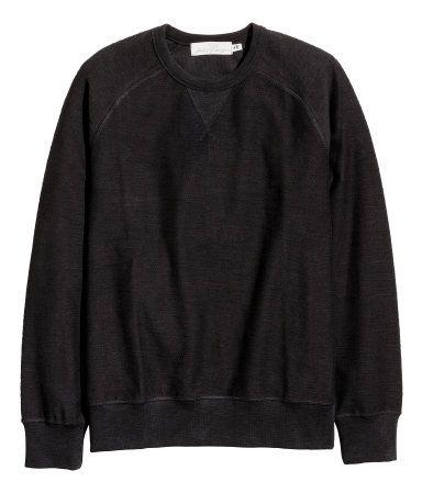 Sweatshirt   Siyah   Erkek   H&M TR
