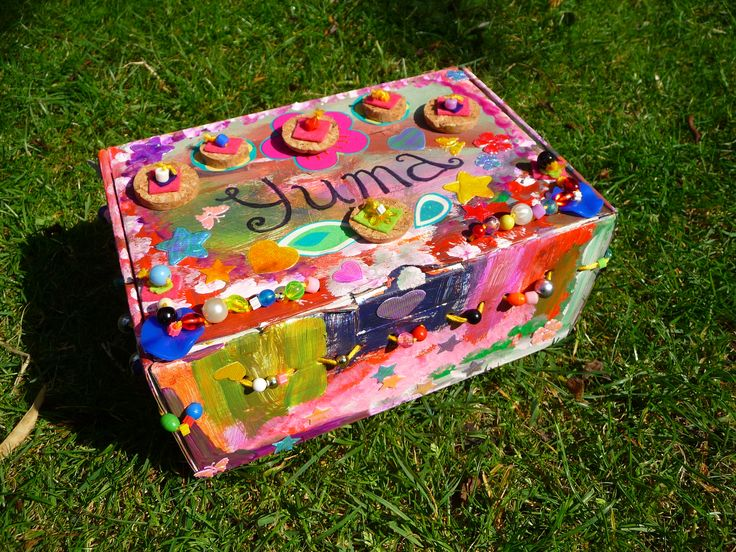 what my daughter did to an old shoe-box