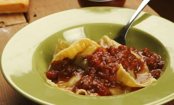 Mushroom Ravioli with Tomato and Chilli Sugo - Maggie Beer, a Barossa Food Tradition