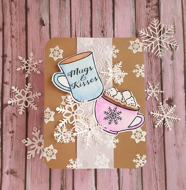 Jen's Crafty Place, Joy Clair Stamps, Christmas cocoa, Stamping, card making