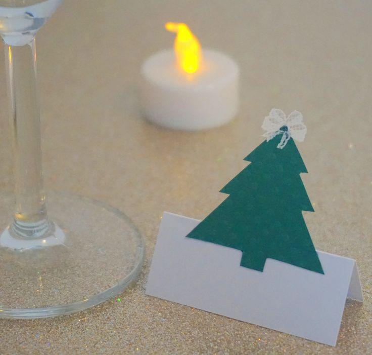 DIY , Handmade , Marque place Sapin , Noël , Decoration , Christmas  decoration , Table