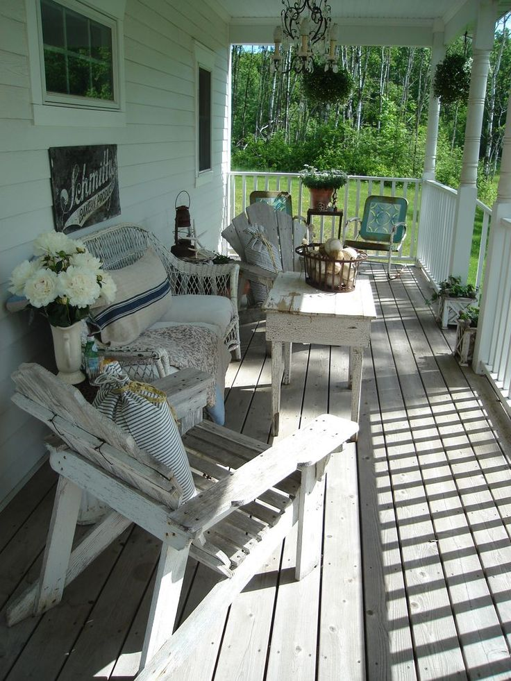 Vintage summer porch long for a porch of my own for Long porch decorating ideas