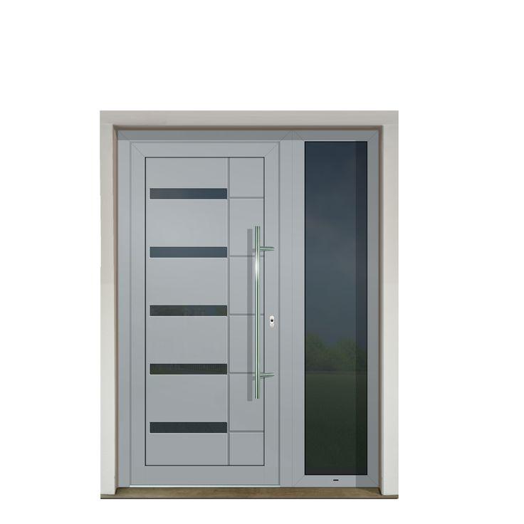 Vchodové dvere s hliníkovou dvernou výplňou GAVA 416b