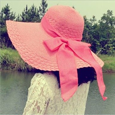Womens Fashion Bowknot Floppy Hat (4 Colours)