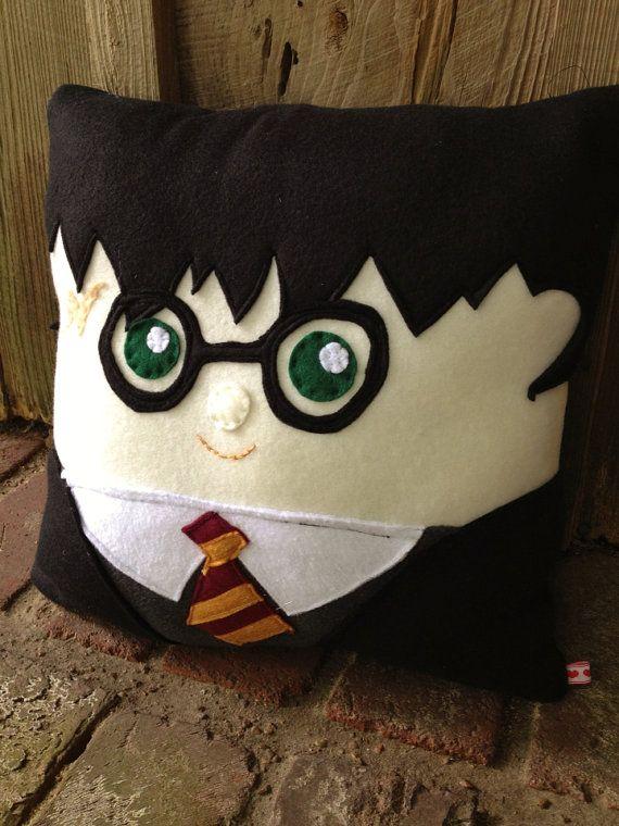 Cuddly Harry Potter Pillow Harry Potter by startrails on Etsy