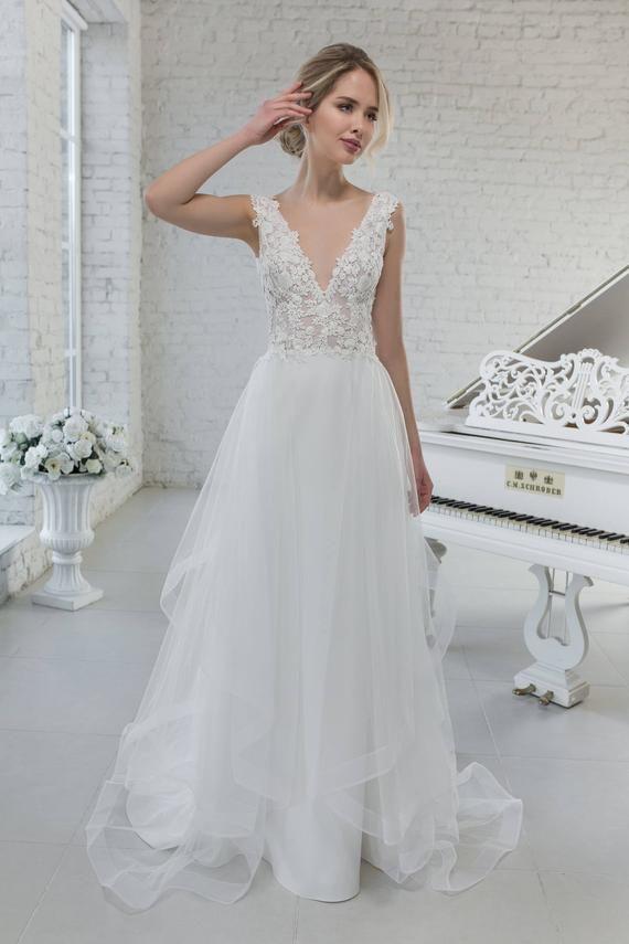 Wedding Dress Wedding Dress Removable Volantrock Removable flounced skirt mermaid dress wedding dress VIKKIE
