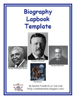 Classroom Freebies Too: How About a Biography Lapbook Template?