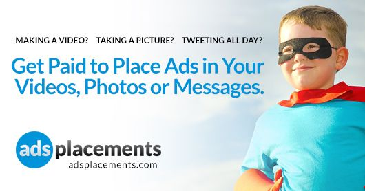 Adsplacements.com is a Product Placement Marketplace. We Connect brands and producers for product placement opportunities in social networks. Join Us and start making money from placing ads in your photos, videos or tweets. http://adsplacements.com/
