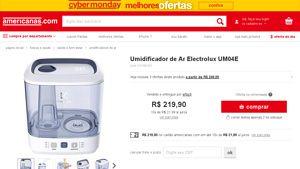 [Americanas.com] Umidificador de Ar Electrolux UM04E por R$ 219,90