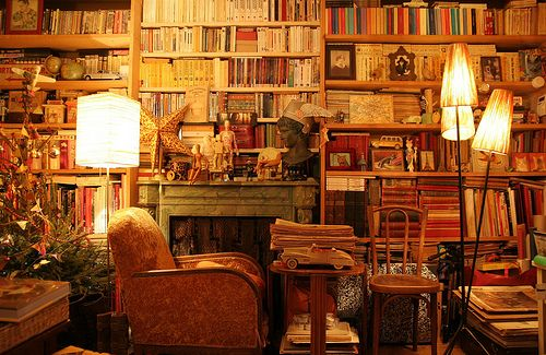 I want a library in my home one day.
