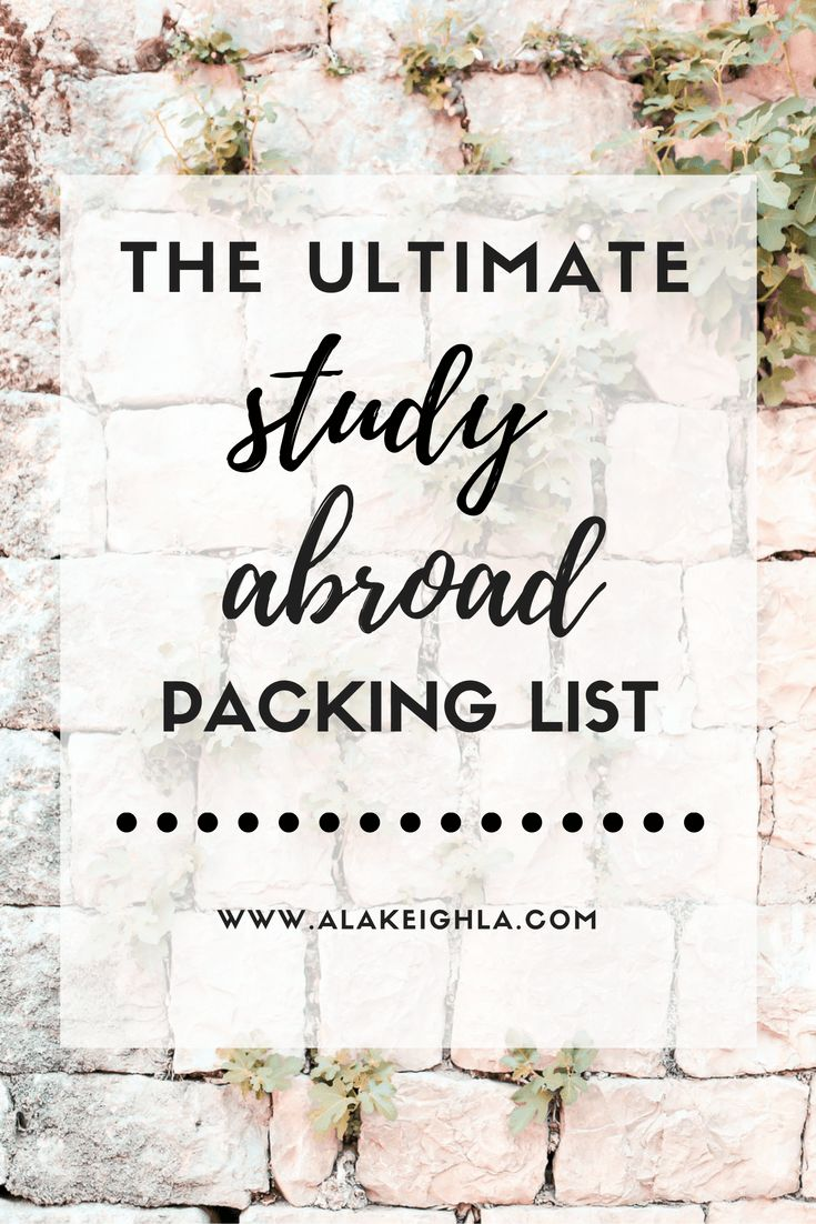 Study Abroad Packing List                                                                                                                                                                                 More