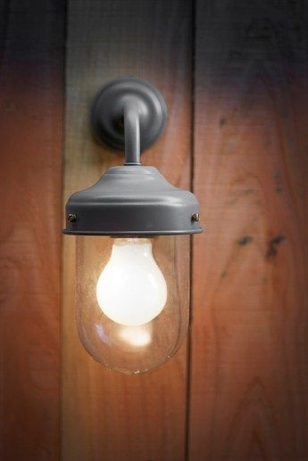 Outdoor Wall Lighting - Wall Mounted Exterior Barn Lamp in Coffee