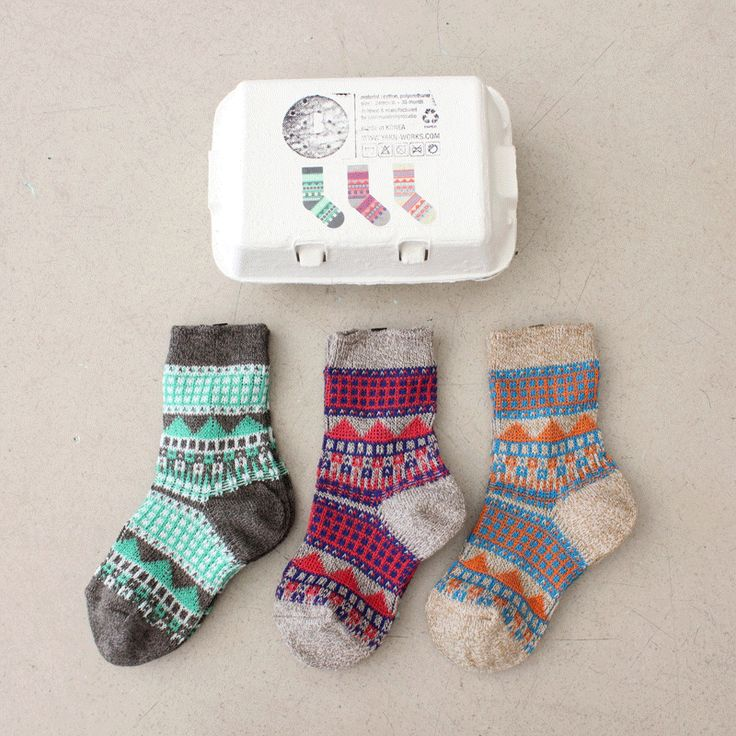 Yarnworks Socks Set in an Egg Carton #1 – shorties