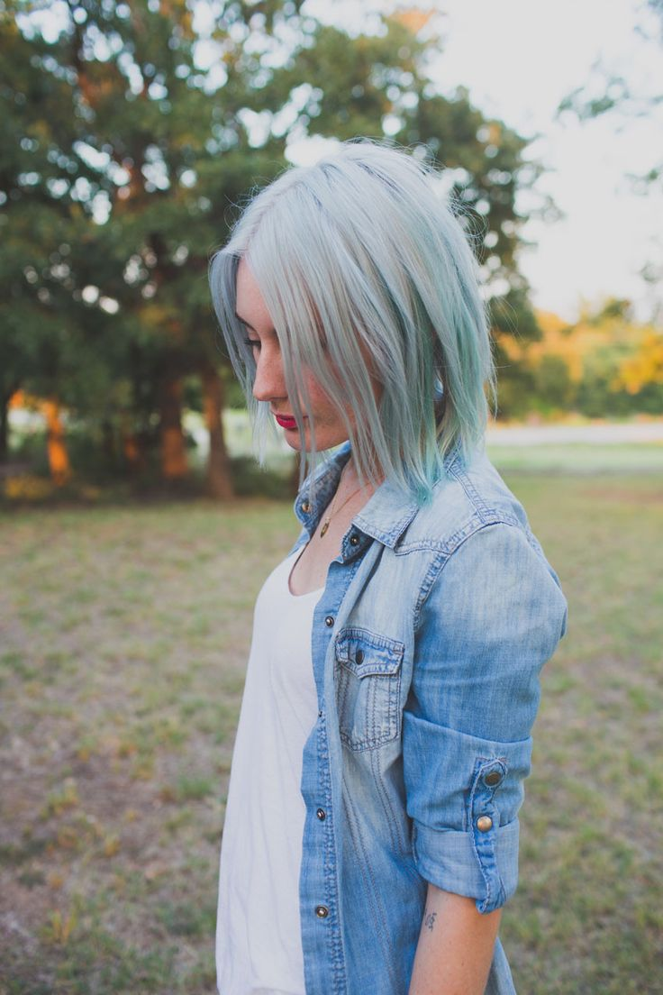 gray and mint. (pastel hair) - indiejane photography