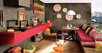 Sala com varanda gourmet