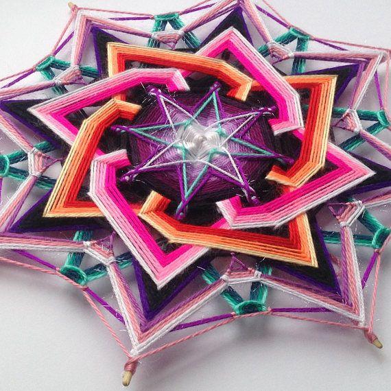 Woven mandala Galaxy free shipping yarn mandala
