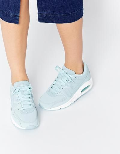 Nike Air Max Command Ice Blue Trainers at asos.com #shoes #comma #offduty #covetme