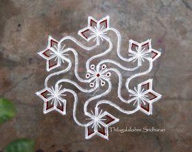 Rangoli and Art Works: DOTTED KOLAM (11-6 DOTS)