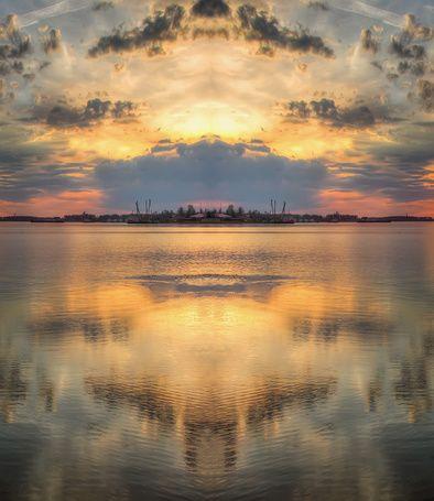 Фото Красивый закат над водой, фотограф Дмитрий