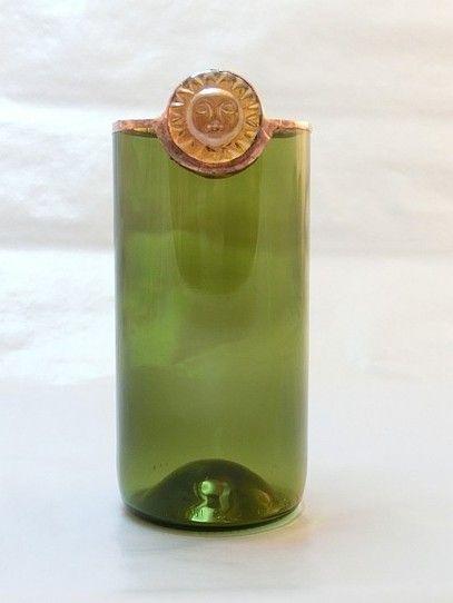 Vase/Teelichthalter mit Sonnennugget
