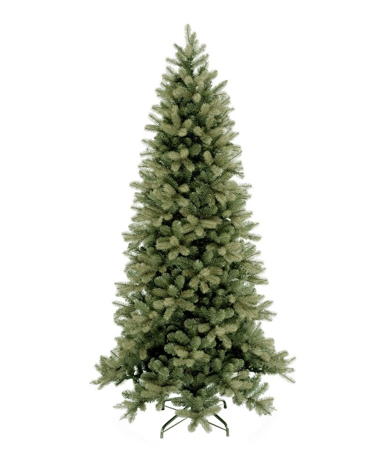 8ft Bayberry Spruce Slim Feel-Real Artificial Christmas Tree
