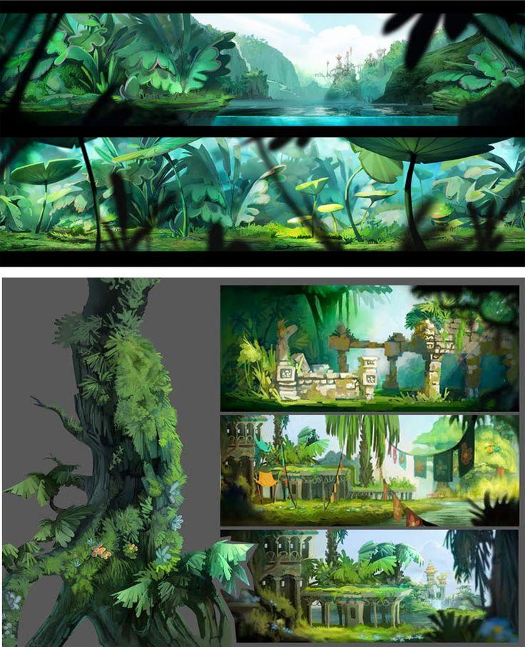 Concepts arts de Rayman Origins, por Floriane Marchix