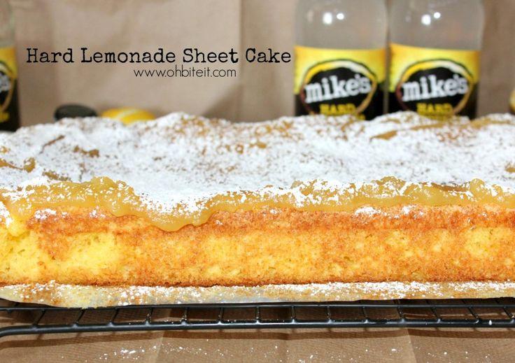 ~Hard Lemonade Sheet Cake!