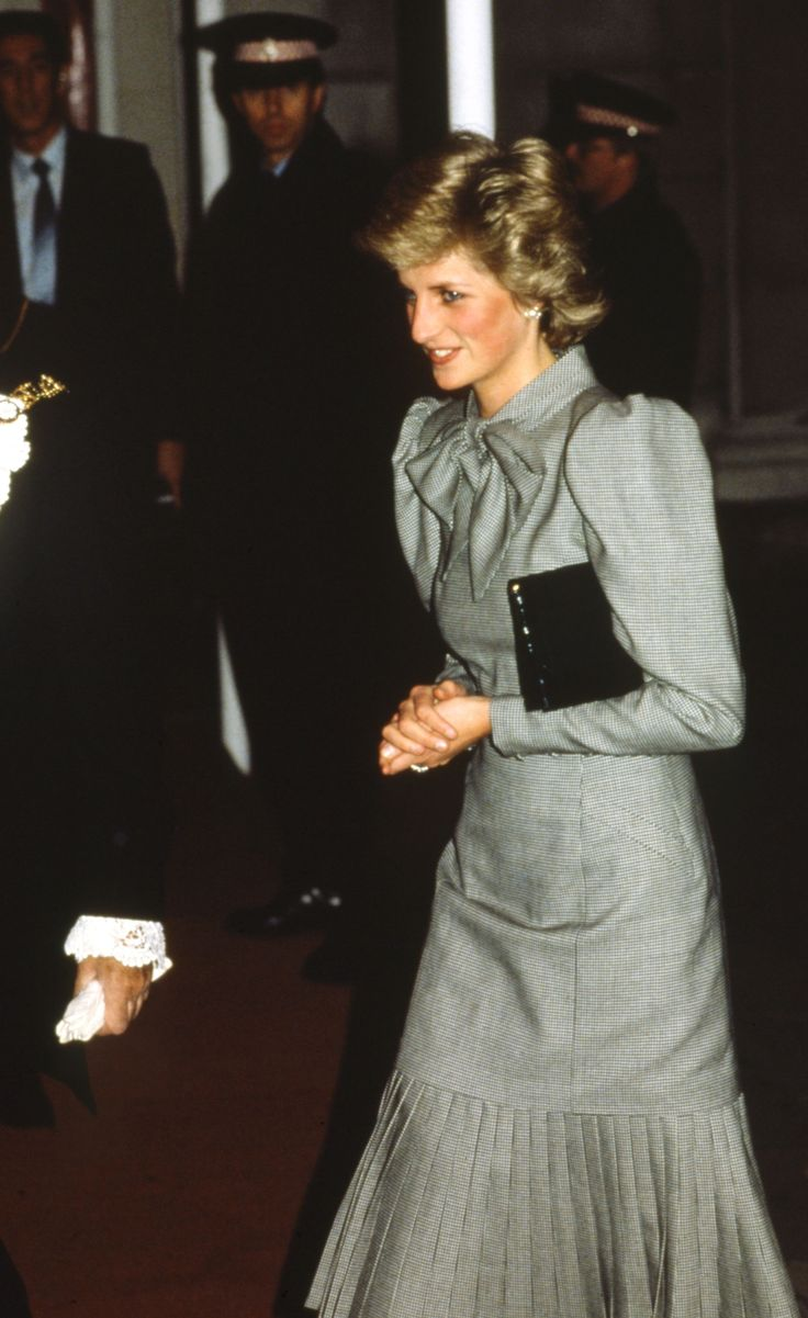 50 Shades of Grey (dresses) Princess Diana in a grey dress